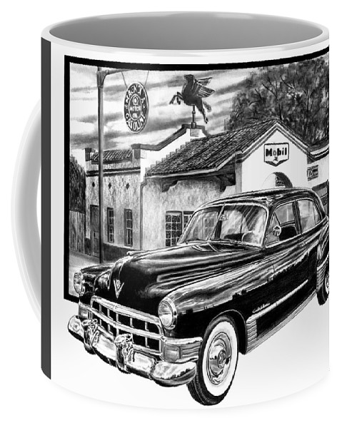 Gas Hog 41 Coffee Mug featuring the drawing Gas Hog 41 by Peter Piatt