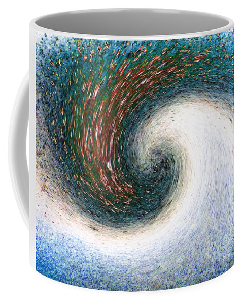 Abstract Coffee Mug featuring the digital art Gastronomic Tornado by Will Borden