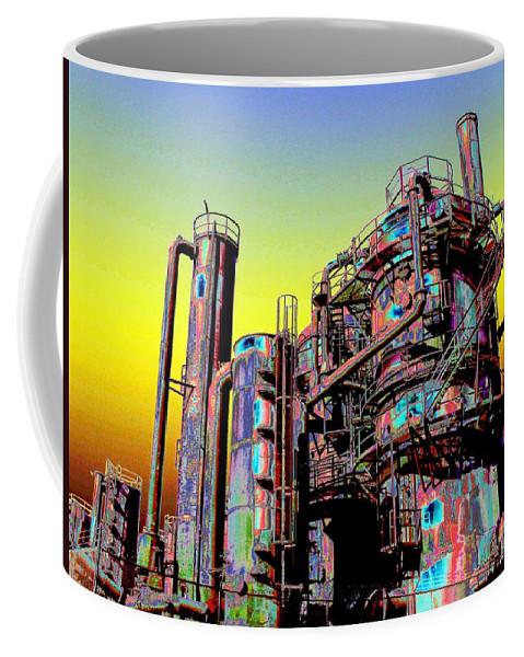 Seattle Coffee Mug featuring the digital art Gasworks Park 1 by Tim Allen
