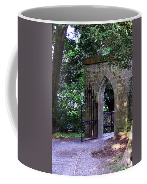 Irish Coffee Mug featuring the photograph Gate At Cong Abbey Cong Ireland by Teresa Mucha
