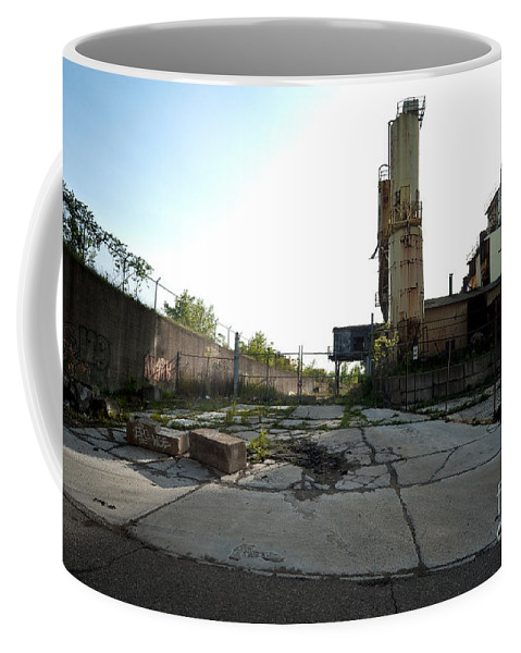 Detroit Coffee Mug featuring the photograph Gate Is Locked by Steven Dunn