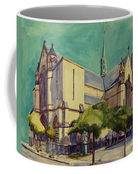 Church Coffee Mug featuring the painting Gate Of Heaven Church by Deb Putnam