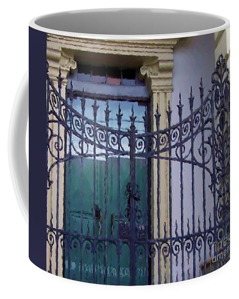 Gate Coffee Mug featuring the photograph Gated by Debbi Granruth