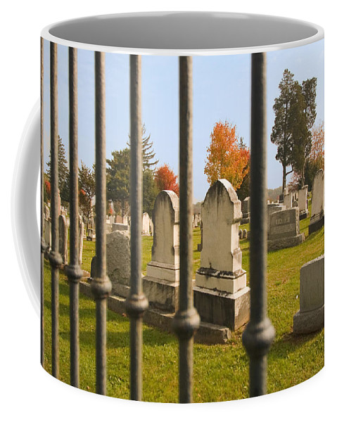 Cemetery Coffee Mug featuring the photograph Gates Of Heaven by Mick Burkey