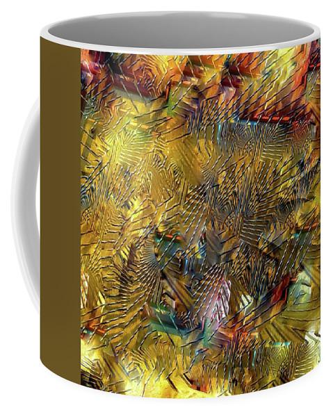 Gate Coffee Mug featuring the digital art Gates Of The Sun by Michael John Bobak