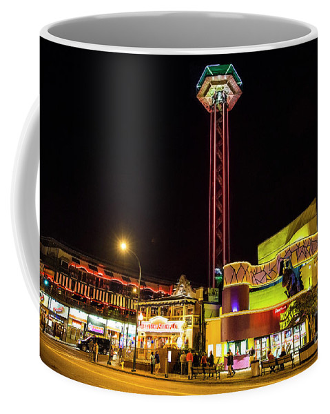 Gatlinburg Downtown Coffee Mug featuring the photograph Gatlinburg Downtown, Gateway To The Great Smoky Mountains National Park by Felix Lai