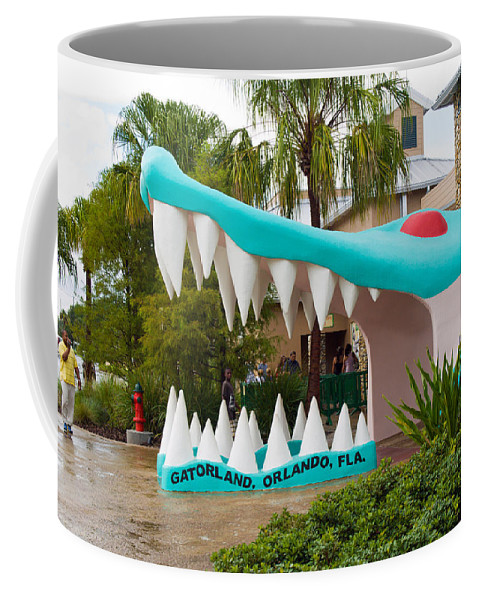Coffee Mug featuring the photograph Gatorland In Kissimmee Is Just South Of Orlando In Florida by Allan Hughes