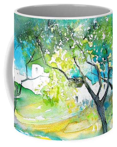Spain Painting Water Colour Sketch Travel Gatova Coffee Mug featuring the painting Gatova Spain 04 by Miki De Goodaboom