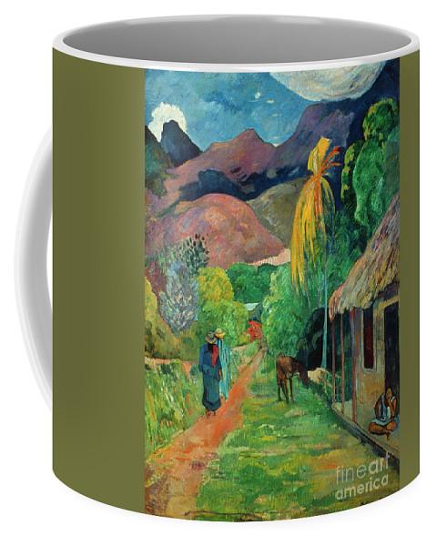 19th Century Coffee Mug featuring the photograph Gauguin Tahiti 19th Century by Granger