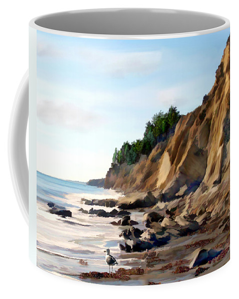 Ocean Coffee Mug featuring the photograph Gaviota by Kurt Van Wagner