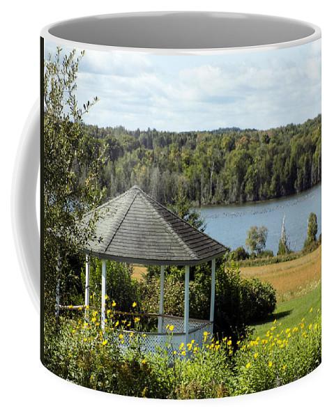 Gazebo Coffee Mug featuring the photograph Gazebo And Caribou Lake by William Tasker