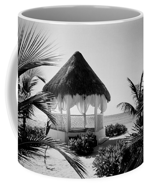 Gazebo Coffee Mug featuring the photograph Gazebo On The Ocean by Anita Burgermeister