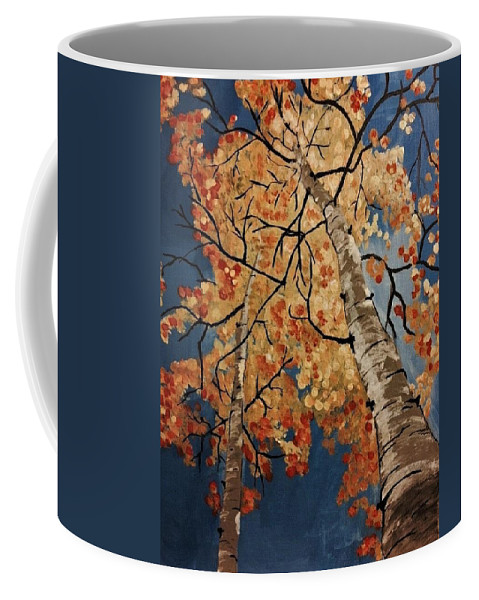 Aspen Coffee Mug featuring the painting Gazing In Colorado by Julie Wittwer