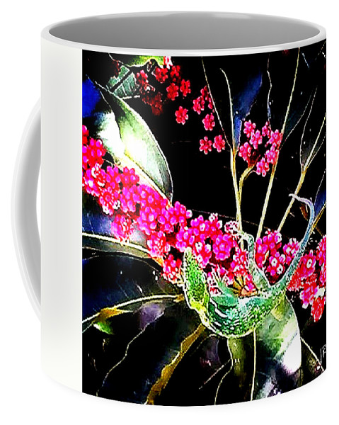 Coffee Mug featuring the photograph Gecko Berry by Jennifer Virag