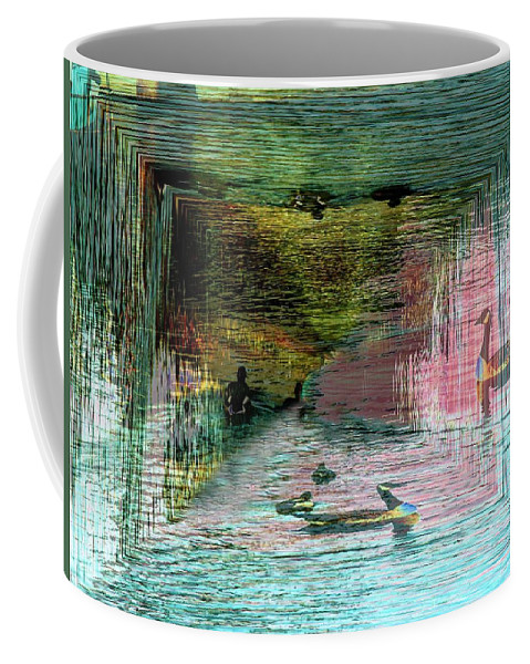 Geese Coffee Mug featuring the photograph Geese In The Vortex by Tim Allen