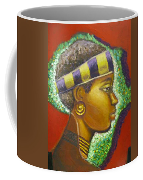 Gem Of Africa Coffee Mug featuring the painting Gem Of Africa by Jan Gilmore