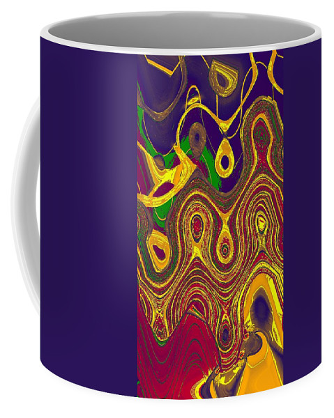 Abstract Coffee Mug featuring the digital art Gems 5 by John Saunders