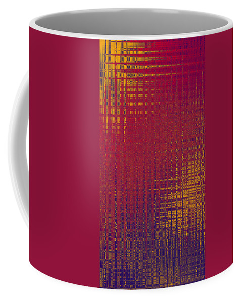 Abstract Coffee Mug featuring the digital art Gems 7 by John Saunders