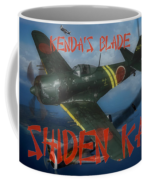 A6m Coffee Mug featuring the digital art Genda's Blade by Mil Merchant