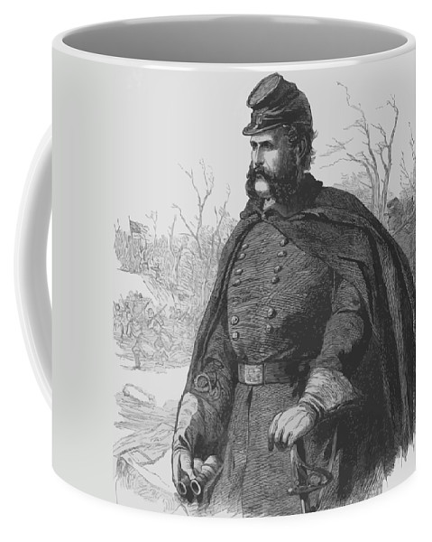 Ambrose Burnside Coffee Mug featuring the painting General Ambrose Burnside by War Is Hell Store