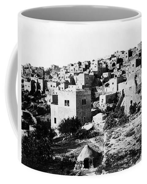 Bethlehem Coffee Mug featuring the photograph General View Of Bethlehem 1800s by Munir Alawi