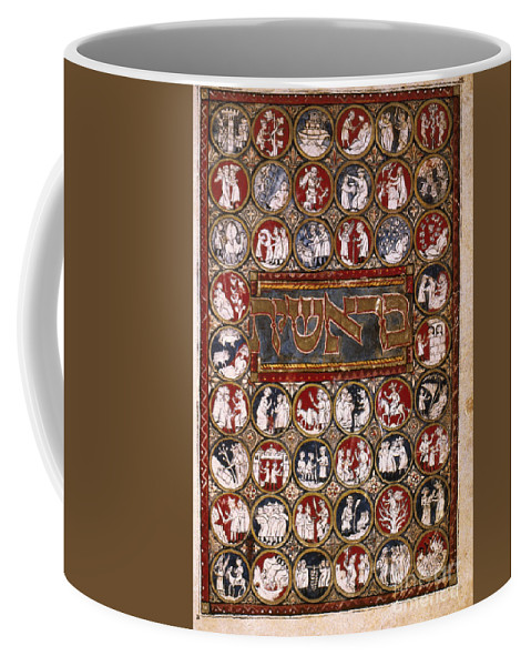 14th Century Coffee Mug featuring the painting Genesis Frontispiece by Granger