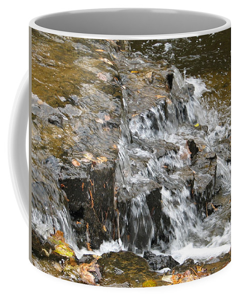 Waterfall Coffee Mug featuring the photograph Gentle Falls by Kelly Mezzapelle