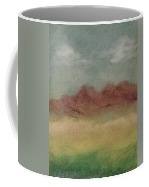 Mountains Coffee Mug featuring the painting Gentle Mountain Range by Carol Lindquist