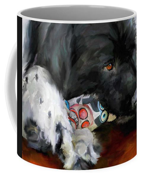 Newfoundland Coffee Mug featuring the painting Gentle Soul by Jai Johnson
