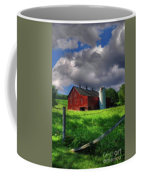 Landscape Coffee Mug featuring the photograph Gentle Summer by Lois Bryan