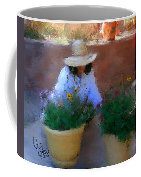 Woman Coffee Mug featuring the painting Gently Does It by Colleen Taylor