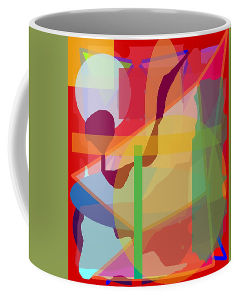 Abstract Coffee Mug featuring the painting Geo Frenzy by Pharris Art