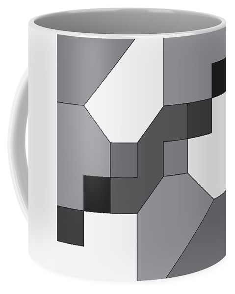 Illustration Coffee Mug featuring the drawing Geoblock42bnw by Maggie Mijares