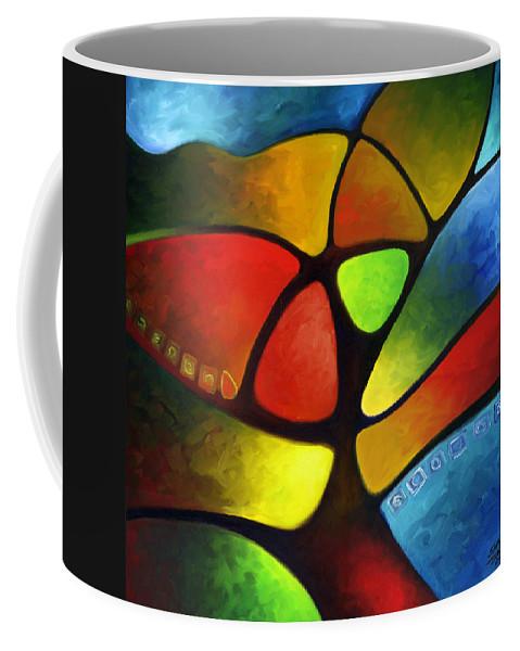 Tree Coffee Mug featuring the painting Geometree by Sally Trace