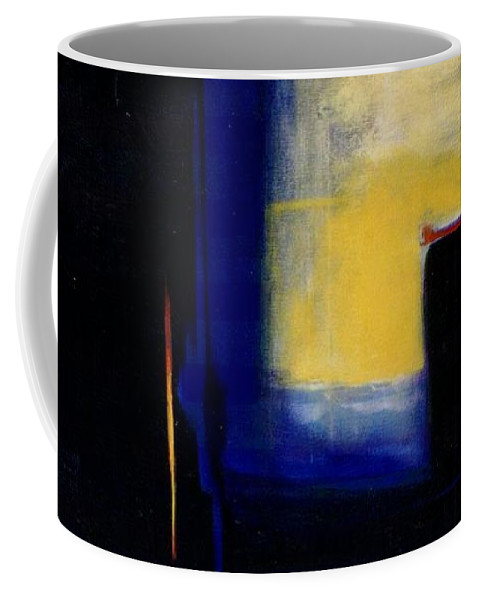 Abstract Coffee Mug featuring the painting Geometric 2 by Marlene Burns
