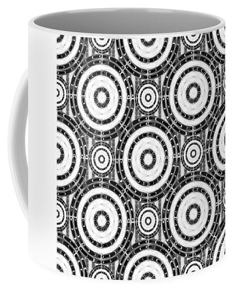 Arabesque Coffee Mug featuring the digital art Geometric Black And White by Gaspar Avila