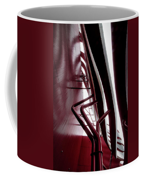 Architecture Coffee Mug featuring the photograph Geometric Flow 11 by Mark David Gerson