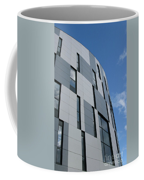 Architecture Coffee Mug featuring the photograph Geometric Intrigue by Ann Horn