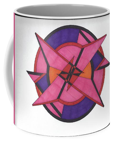 Coffee Mug featuring the drawing Geometric by Johnny Huff