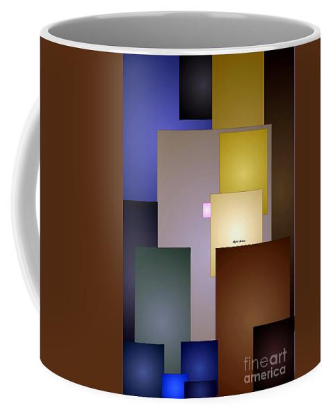 Rafael Salazar Coffee Mug featuring the digital art Geometric Squares by Rafael Salazar