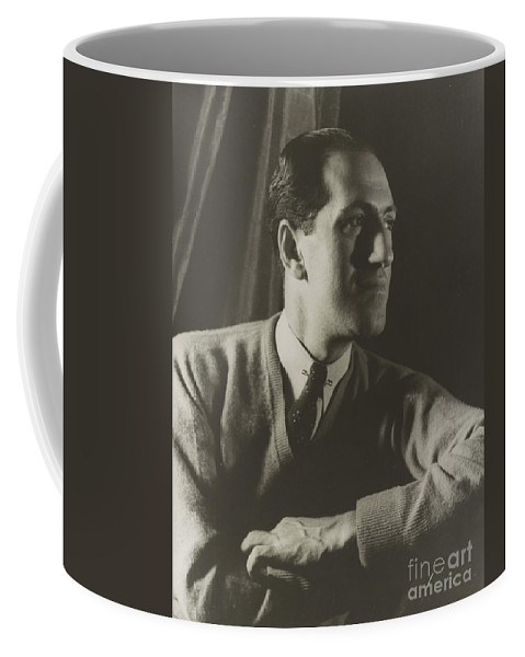 Fine Arts Coffee Mug featuring the photograph George Gershwin, American Composer by Science Source