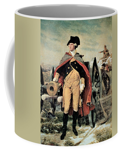 George Washington At Dorchester Heights Coffee Mug featuring the painting George Washington At Dorchester Heights by Emanuel Gottlieb Leutze