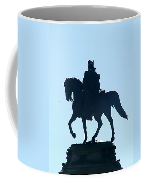 George Washington Coffee Mug featuring the photograph George Washington Monument Philadelphia by Bill Cannon