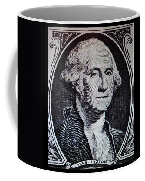 Black And White Coffee Mug featuring the photograph George Washington by Rob Hans