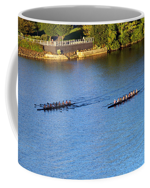 Georgetown Coffee Mug featuring the photograph Georgetown Crew On The Potomac? by Cora Wandel