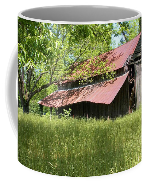 Barn Coffee Mug featuring the photograph Georgia Barn by Nelson Strong
