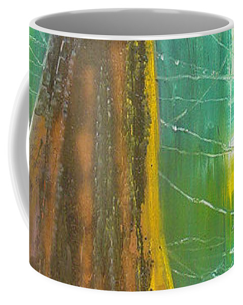 Landscape Coffee Mug featuring the painting Georgia Morning by Peggy Blood