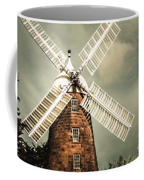 Architecture Coffee Mug featuring the photograph Georgian Stone Windmill by Jorgo Photography - Wall Art Gallery