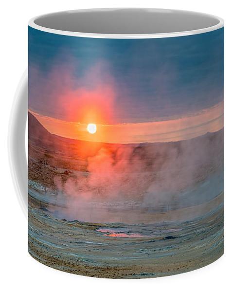 Iceland Coffee Mug featuring the photograph Geothermal Sunrise by Izet Kapetanovic