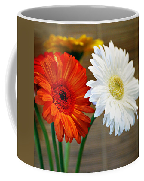 Flower Coffee Mug featuring the photograph Gerbers by Marilyn Hunt